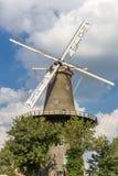 Историческая ветрянка De Valk в центре Лейдена Стоковая Фотография