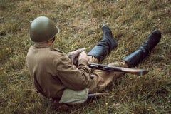 Историческая Вторая Мировая Война реконструкции Стоковое Изображение RF