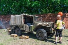 Историческая выставка re-введения в силу - Grenadier 2017 Стоковое фото RF