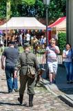 Историческая выставка re-введения в силу - Grenadier 2017 Стоковые Изображения RF