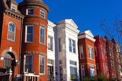 Историческая городская архитектура в пригороде Mount Vernon DC Вашингтона Стоковые Изображения RF