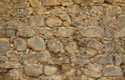 Историческая деревенская текстура каменной стены стоковые фотографии rf