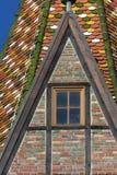 историческая католическая церковь gmuend schwaebisch города детализирует ornam стоковая фотография