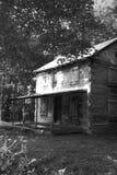 Историческая красивая старая бревенчатая хижина Стоковое Фото