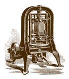 Историческая машина для соединять швами консервные банки иллюстрация вектора
