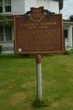 Историческая металлическая пластинка дома восьмиугольника Клэранса Darrow Стоковые Фото