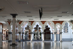 Историческая мечеть, Masjid Jamek на Куалае-Лумпур, Малайзии Стоковое Фото