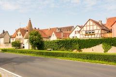 Историческая основа Sulzfeld am деревни стоковые фото