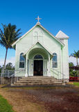 Историческая покрашенная церковь в Гаваи Стоковые Фотографии RF