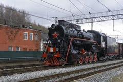 Историческая реконструкция ` поезда победы ` Стоковые Фотографии RF