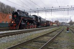 Историческая реконструкция ` поезда победы ` Стоковое Фото
