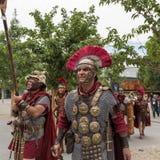 Историческая римская группа на экспо 2015 в милане, Италии Стоковые Фотографии RF