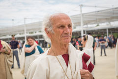 Историческая римская группа на экспо 2015 в милане, Италии Стоковые Изображения
