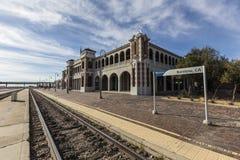 Историческая станция Barstow в Калифорнии стоковая фотография