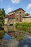 Историческая старая каменная мельница Стоковые Изображения RF