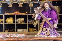 Историческая старая статуя Иисуса Стоковая Фотография RF