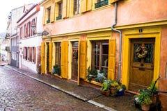 историческая старая улица Баден-Баден Германия Стоковое фото RF