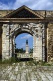 Историческая стена входа к городу в Ла Goulette, Тунисе Стоковая Фотография