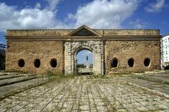 Историческая стена входа к городу в Ла Goulette, Тунисе Стоковые Изображения