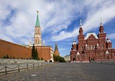 историческая стена музея kremlin Стоковая Фотография