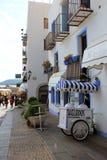 Историческая тележка мороженого в Испании Стоковые Фотографии RF