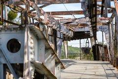 Историческая тележка рельса добычи угля Стоковое Фото