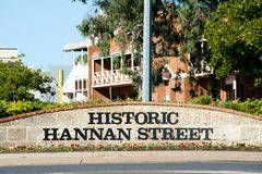 Историческая улица Hannan стоковое фото