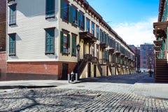 Историческая улица в Нью-Йорке Стоковые Изображения