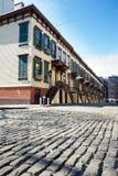 Историческая улица в Нью-Йорке Стоковое фото RF