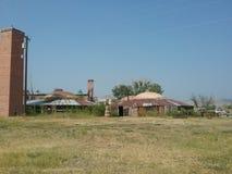 Историческая фабрика кирпича Стоковое Изображение RF