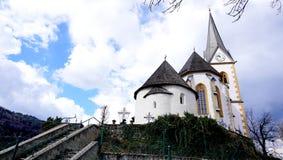 Историческая церковь в Клагенфурте Австрии Стоковое фото RF