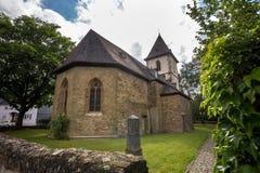 Историческая церковь в hermannstein hessen Германии стоковое изображение