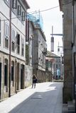 Историческая часть города Pontevedr стоковое изображение