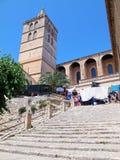 Историческая часть городка Sineu (Мальорки, Испании) Стоковая Фотография RF