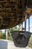 Историческая черная тележка рельса минирования Стоковая Фотография