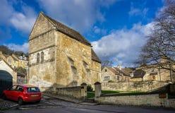Историческая Saxon церковь St Laurence в Брэдфорде на Эвон, Уилтшире, Великобритании стоковое фото rf