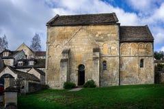 Историческая Saxon церковь St Laurence в Брэдфорде на Эвон, Уилтшире, Великобритании стоковые фото