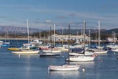 Исторические гавань и Марина Монтерей стоковое фото rf