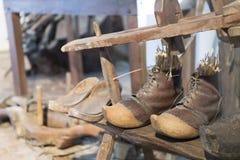 Исторические деревянные clogs Стоковое Фото