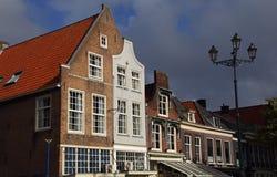 Исторические дома в Делфте, Голландии стоковая фотография rf