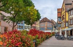 Исторические дома, Кольмар, Франция стоковая фотография rf
