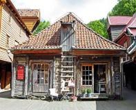 Исторические деревянные дома в Бергене (Норвегия) Стоковая Фотография RF