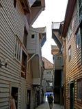 Исторические деревянные дома в Бергене (Норвегия) Стоковое фото RF