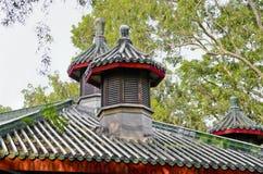 Исторические детали архитектуры китайского сада Стоковое Изображение RF