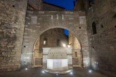 Исторические здания в Перудже Стоковые Изображения