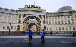 Исторические здания в Санкт-Петербурге, России стоковые изображения