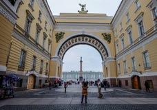 Исторические здания в Санкт-Петербурге, России стоковая фотография rf