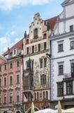 Исторические здания в старом городке в Праге, чехии Стоковое фото RF