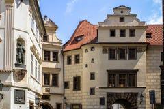Исторические здания в старом городке в Праге, чехии Стоковая Фотография