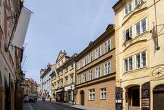 Исторические здания в старом городке в Праге, чехии Стоковая Фотография RF